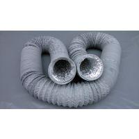 灰色pvc排风复合伸缩软管 PVC铝箔复合管 伸缩软管 钢丝风管