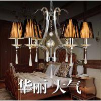 宇昂 奢华led吊灯 欧式现代水晶吊灯 led客厅灯卧室灯水晶吊灯