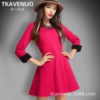 2015年春季新款品牌女装欧美连衣裙服装批发代理加盟网络分销平台