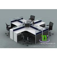 上海办公家具直销 屏风办公桌/职员桌卡座4人组合员工位可定做