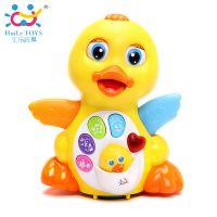 汇乐808 EQ摇摆大黄鸭 婴幼儿童电动音乐万向益智动物玩具