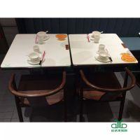 运达来家具新款时尚大理石桌子 方桌、圆桌 餐厅快餐店餐桌家具供应