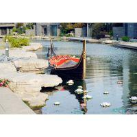 供应庆荣木业贡多拉欧式木船手划船装饰木船景观船