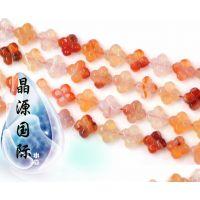 低价 AAA天然原色玛瑙四叶草散珠水晶珠子 促销批发DIY饰品配件