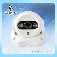 深圳网络监控摄像头生产厂家直销半球摄像机 红外摄像机 监控室内半球摄像头批发