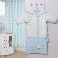 婴儿睡袋 睡王 秋冬款加厚 两用可脱袖加长防踢被宝宝睡袋纯棉包