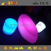 特价香港酒店简约现代塑料LED发光茶几 七彩变色 遥控酒店户外