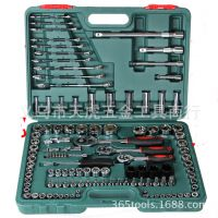 铬钒钢120件套汽车修理工具套筒组套套筒扳手套装工具