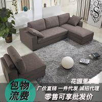 品牌贴牌生产储物多功能贵妃优质麻布布艺沙发刨方沙发床一件代发