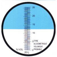 低浓度葡萄酒酒精度测试测量仪0-25度酒浓度折射仪
