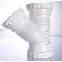 世丰pvc-u排水管 下水管 管材管件 消音斜三通