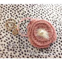 特价促销 地摊热卖新款韩版挂件 蕾丝花水晶钥匙扣