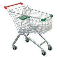 深圳友信货架供应超市购物车促销车带凳子购物车