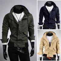 外贸出口供应商欧美男装 EBAY速卖通亚马逊男士 连帽多口袋夹克
