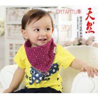 CRTARTU亚麻方巾婴儿口水巾宝宝双层纱布手帕儿童纯棉方巾三角巾