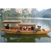 木质高低篷船/水乡传统木船/摇橹船