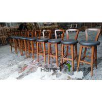 供应上海咖啡厅实木吧椅 原木简约咖啡吧椅定制