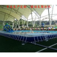 神洲水上乐园专业定制,成都充气支架泳池,充气支架泳池租赁