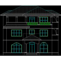 现代风格带旋转楼梯新颖二层新农村房屋设计图13x10米