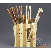 出口优质环保 日式竹筷子笼 餐具架 酒店 家用 小置物架