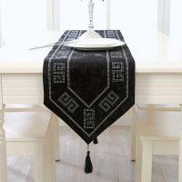 新款外贸欧式桌旗高档亮钻电视柜盖布植绒布艺桌布奢华高档