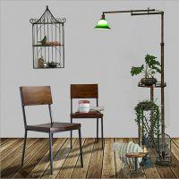 创意家居餐椅定制 美式仿古高靠背实木餐椅餐厅椅子 酒店休闲餐椅