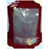 透明无印刷自立吸嘴袋_手提袋装肥料_户外饮用水包装_液体包装袋定做