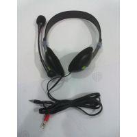 裸机OEM订单 外贸低端带麦电脑耳机 出口外单便宜赠品麦克风