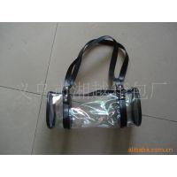 义乌湘越箱包厂混批女式透明PVC革笔袋手提包