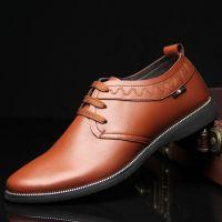 2015品牌男士皮鞋真皮韩版休闲男鞋男式单鞋批发一件代发鞋子6836