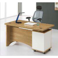 百帝家具职员桌办公桌简约现代办公电脑桌三抽屉书桌时尚秘书台