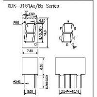 3161BS红光数码管,0.36英寸一位数码管、单8共阳红光数码管