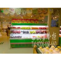 成都武侯区桐梓林生鲜超市3米水果敞口柜定做高度1.6米