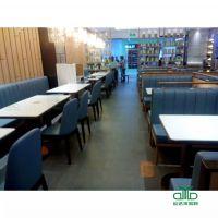 罗湖厂家定做中式西餐厅卡座 咖啡厅沙发 奶茶甜品店桌椅 卡座沙发定制运达来