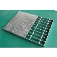 大庆石油钻井平台钢格板 工厂车间操作平台格栅板 楼梯踏步板