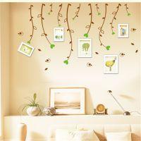 【厂家直销】AY007 柳枝小鸟 照片相框墙搭配墙贴画 PVC透明膜