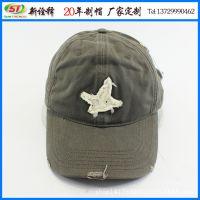 帽厂定做 韩版洗水鸭舌帽前沿磨边时尚棒球帽 潮男女生防晒太阳帽