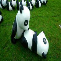 动物园熊猫玻璃钢雕塑,园林景观玻璃钢雕塑,仿真动物雕塑