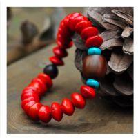 新款天然相思豆红豆佛珠手链饰品 时尚甜美血菩提子手串0