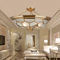 欧式全铜焊锡灯品牌直销 全铜焊锡吸吊灯 D0061 欧式全铜客厅吊灯