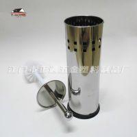 桶身冲孔镜面不锈钢柄马桶刷 家用清洁刷套装 酒店清洁用品厕所刷