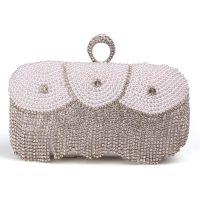珍珠镶钻女士手拿包镶珍珠流苏晚宴包新娘包派对小包奢华婚包