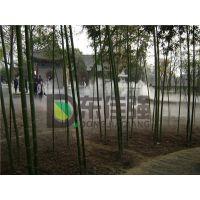资兴花园水池绿化带景观人造雾