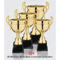 合金奖杯镀金纪念奖座定做 学校运动赛金属纪念杯 政协单位表彰会议金属奖杯
