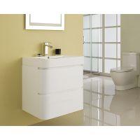 Treepro翠宝 60cm现代简约浴室柜组合洗漱台卫生间吊柜 YGCBL-D1D60W