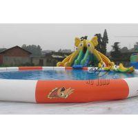 供应水上乐园设备儿童游泳池 圆形充气水池规格可定做