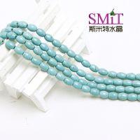 DIY天然水晶饰品 绿松石半成品配件材料批发鼓珠桶珠 毛衣链项链