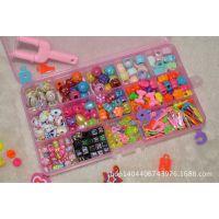 小十五格 彩虹织机配件 珠子 字母挂件套装 rainbow loom