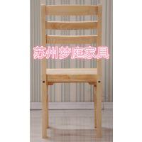 苏州家具厂家简易松木实木餐椅特价直销