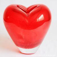批发玻璃花瓶红色love恋情玻璃工艺品玻璃摆饰 欧式家居